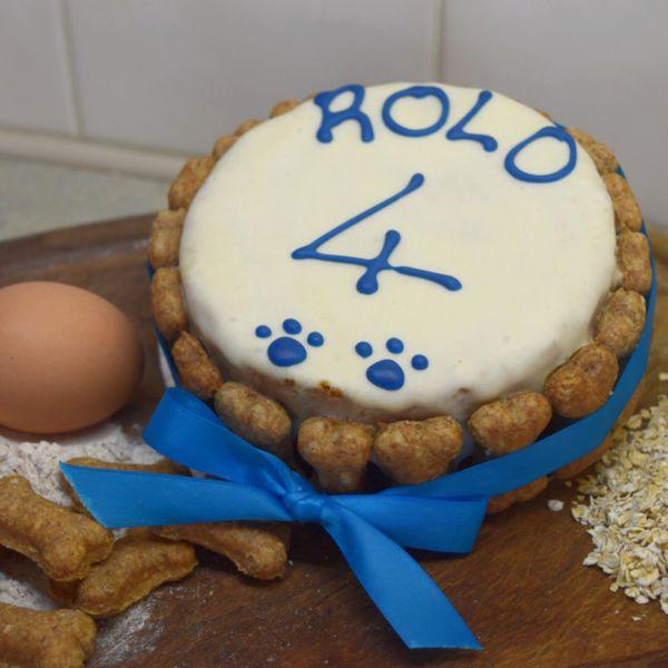 Strange Personalised Mini Birthday Cake 4 Carob Champagne Canines Personalised Birthday Cards Vishlily Jamesorg